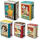 NATIVES 211156 Housewives Set de 5 Boîtes Métal Multicolore 9,9 x 5 x 7 cm 5 pièces