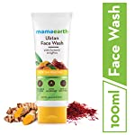 Mamaearth Ubtan Natural Face Wash for Dry Skin with Turmeric & Saffron for Tan removal and Skin brightning 100 ml - SLS...
