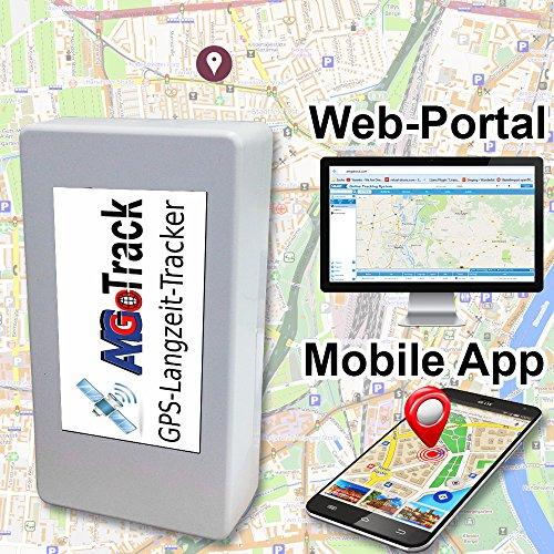 AMGoTracker inkl. bis zu 6 Monate Akkulaufzeit / Langzeit GPS Tracker / Autoüberwachung / Live Ortung / GPS Ortung für alle Fahrzeugmodelle / Grau (Gps-container-tracker)