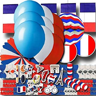 Frankreich Partydekoset Grundausstattung