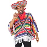 Mexican Tequila Bandito Fancy Dress Costume Sombrero Bandit Adult Western STD XL