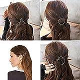 Zhichengbosi 7minimalistische elegante Gold Silber Hohl Geometrische Metall Haarspange Haar Clip Zangen, Kreis, Dreieck und Mond etc. silber