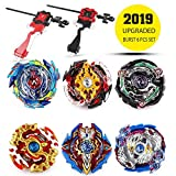 infinitoo Bey Battling Top Burst   Burst Evolution Combination Series 4D   Set of 6 Fighter Gyroscope 4D Fusion Model   2 throwers Set with Launcher   Blade Best Gift for Children Kids Toys