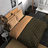 Boutique Living India Native 300TC Sateen Printed King Size (274 cm x274 cm) Bedsheet with 2 Pillow Covers