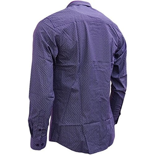 Merc of London Helmsley, Chemise Casual Homme Violet