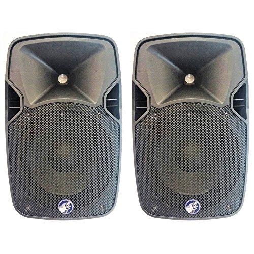 Technosound TA10A Paar Lautsprecher Aktiv 1000W Spitzenleistung für Karaoke, Piano Bar, Party Pub