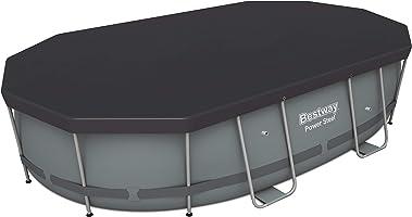 Bestway Flowclear PVC-Abdeckplane, grau, für Power Steel Pool