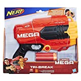 Hasbro E0103EU4 - MEGA Tri Break kompakter Spielzeugblaster, mit großen Darts