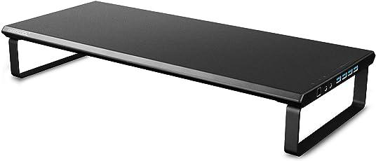 DEEPCOOL M-Desk F3 Smart Monitorständer USB 3.0 für iMac, MacBook Pro, MacBook, Dell, Pcs,Monitorerhöhung Bildschirmerhöher, Bildschirmständer