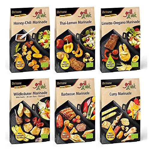 """Beltane grill&wok """"Grillparty"""" - 6 x für je 500 g Fleisch, Gemüse oder Fisch - Bio"""