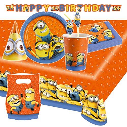 set decoración Minions para cumpleaños Gru mi villano
