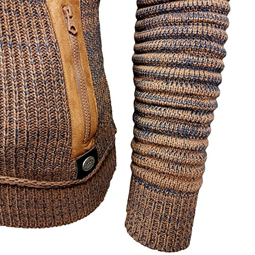 Rusty Neal Grobstrick Zipper Strick-Pullover Strickjacke Jacke RN-13289 NEU Camel