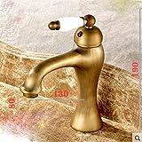 WYX@ Vintage cuivre mitigeur monotrou douche chaud et froid du robinet , a1
