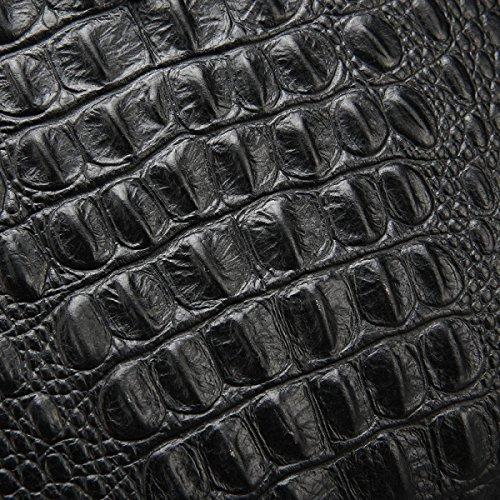 Borsa Da Uomo In Pelle Yy.f Business Americano Pacchetto Diagonale Spalla Da Uomo Cartella Modello Coccodrillo Confezione Piatta Black