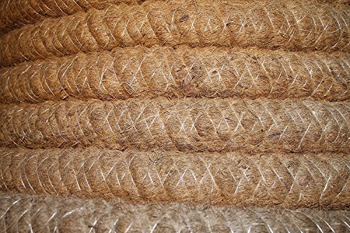 Doubleyou Geovlies & Baustoffe Drainagerohr DN 100 gelocht mit Kokosfilter, Kokos ummantelt, Drainage (10m)