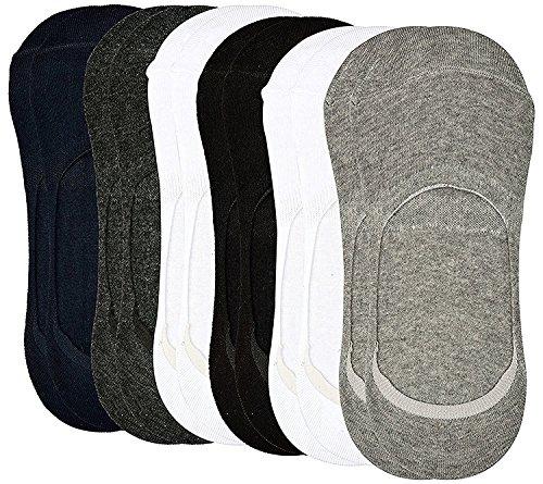 Tex Home Men\'s Cotton Loafer Socks socks-multi06-001_Multicolour_Free Size - Pack of 6