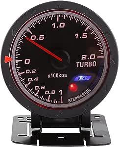 pressa di vuoto del calibro di spinta dellautomobile Presa nera universale per lauto da corsa automatica 0-200 Kpa Calibro del calibro del turbo di 60mm LED