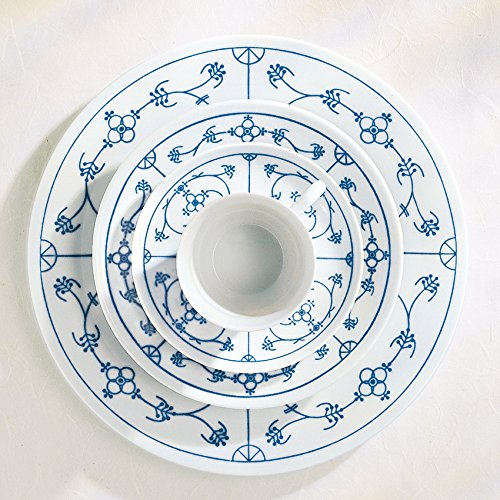 kahla-tradition-fruhstucksteller-19-cm-blau-saks-mit-kleinen-schonheitsfehlern