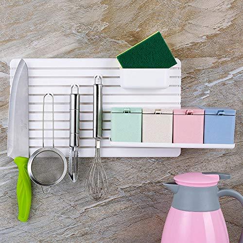 QJWVVLLL Estantería Blanca para Libros Infantil Estantería Colgante En Forma Baño Cocina Estante Pegar Pared Estante De Almacenamiento Dormitorio Creativo Plástico Baño Cocina Estante Blanco