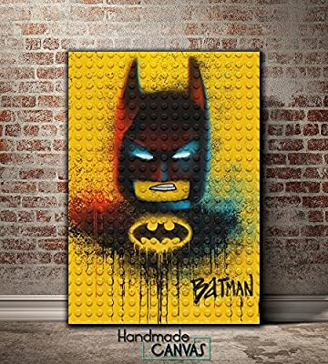Lego Batman Kids Movie Handmade Canvas Art Print Framed Ready To Hang