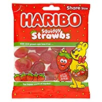 Haribo Squidgy Strawbs Gummi Candy - 140g