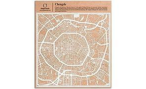 Chengdu Scherenschnitt Karte, Weiß 30x30 cm Papierkunst