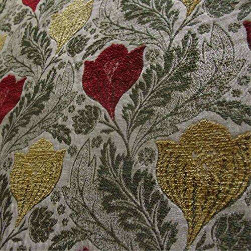 Berkeley Sofa ('Berkeley Granada Floral:, rot, gold und grün Öl Material Stoff Dekostoff Kissen Sofa, feuerbeständig loome Gewebe, Berkeley 'Pomegranate Floral' : Red, Gold, Green, 10 x 14 cm sample)