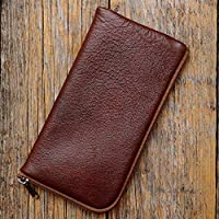 Leather cover for Samsung Galaxy Note 9 case brown with zipper sleeve pouch