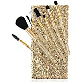 Foolzy BR-16A Professional Makeup Brushes Kit, Golden (Set Of 7)
