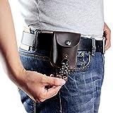 Bolsillo de piel de carga automática para tirachinas, bolsa de munición para perdigones o bolas...