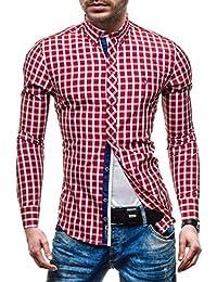 BOLF Herren Hemd Business Knopfleiste Casual Style 2B2 MIX