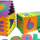 Puzzlematte 86 tlg. – Kinderspielteppich Spielmatte Spielteppich Schaumstoffmatte Matte bunt - 6