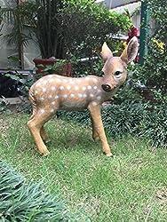 Wonderland Standing Baby Deer garden decoration ( garden decor, home decor , garden animal)