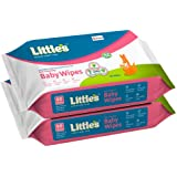 Little's Soft Cleansing Baby Wipes with Aloe Vera, Jojoba Oil and Vitamin E (80 wipes) pack of 2