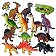 Dinosaure jouets en plastique ensemble de 12 encadrés