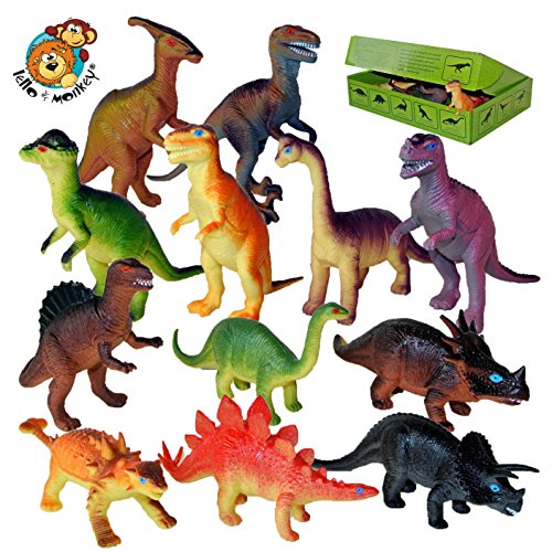 Figuras de dinosaurios de juguete - caja de juego de 12
