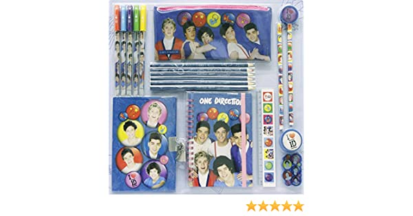 One Direction School Bag Pencil Stationary Set 1d Stationery Tour
