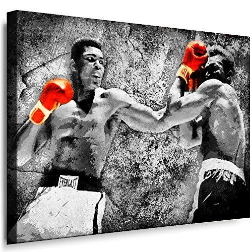 Boikal SP3-1 Bild ( Leinwandbild ) 40 / 30 cm Wandbild fertig geramt Boxlegende Boxer Muhammad Ali - Pop-kunst-boxer