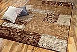 TrendLine Teppich Patchwork Beige Braun in 4 Größen