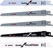 Bosch Bahçe Yedek Bıçak 5 Parçalı Testere Bıçağı Seti, Yeşil