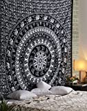 Indian Style Black Tapestry Cotton Decor...
