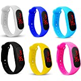 Style Keepers Silicone Slim Digital LED Black Dial Boy's and Girl's Bracelet Band Watch - Combo Set of 6 Watch for Kids Boys