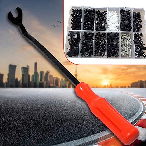 Sedeta® Auto-Plastikniet-Befestiger des Auto-350Pcs mit Schraubenzieher Körper Trim Clips Sortiment Push Pin ABS Kunststoff Nieten - Chrysler-geld-clip