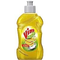 Vim Dishwash Liquid Gel Lemon, With Lemon Fragrance, Leaves No Residue, Grease Cleaner For All Utensils, 250 ml Bottle
