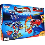 Wembley Track Set Racing Deluxe 2 Players with Spinners and 360º Big Loop and 2 Fast Pull Back Cars