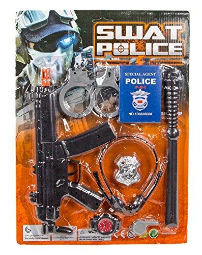 Holster Kostüm Gewehr - XXXL Kinder Polizei Kostüm Set Pistole Schlagstock Handschellen Holster Gewehr Funkgerät