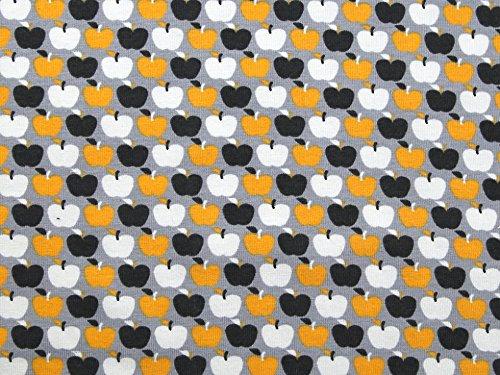 Mini Äpfel Print Stretch Jersey Knit Kleid Stoff Grau, Pro Meter Mini-print-jersey