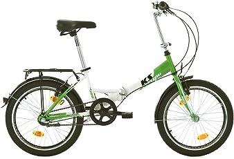 KS Cycling Fahrrad Klapprad Fx300 3-Gänge, Grün/Weiss, 20 Zoll, 580B