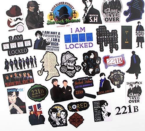 32 stücke Sherlock Aufkleber Pack für Laptop Skateboard Dekoration Vinyl Aufkleber Doodle Coole DIY Scrapbooking Album -