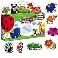Roter Kafer Fridge magnets for kids ZOO animals- 29 FOAM Magnetic animal figures- Kids magnets- Magnets for toddlers Zoo animals toys for toddlers Animals toys Magnetic toys for toddlers- Toddler toys